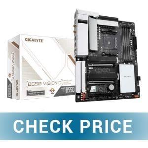 Gigabyte B550 Vision D - Best Gaming Motherboard for Ryzen 9 5950X