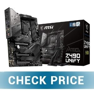 MSI Z490 MEG Unify ATX - Best Micro ATX Motherboard for RTX 3070