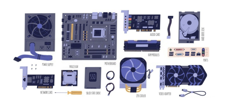 parts on motherboards